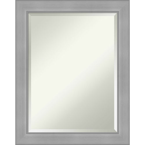 Vista Brushed Nickel 23W X 29H-Inch Bathroom Vanity Wall Mirror