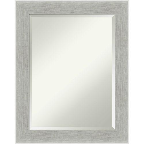 Gray Frame 23W X 29H-Inch Bathroom Vanity Wall Mirror
