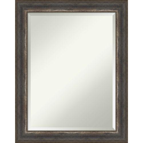 Alta Rustic Brown 23W X 29H-Inch Bathroom Vanity Wall Mirror