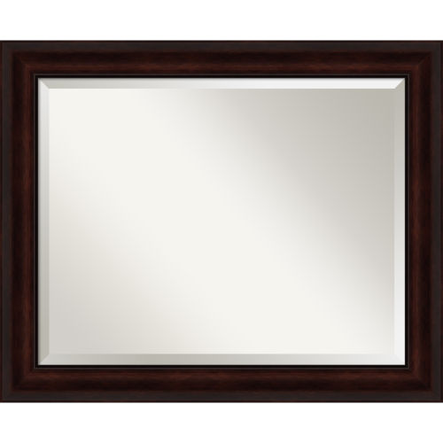 Brown 33W X 27H-Inch Bathroom Vanity Wall Mirror