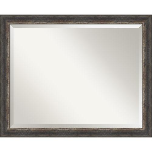 Bark Brown 32W X 26H-Inch Bathroom Vanity Wall Mirror