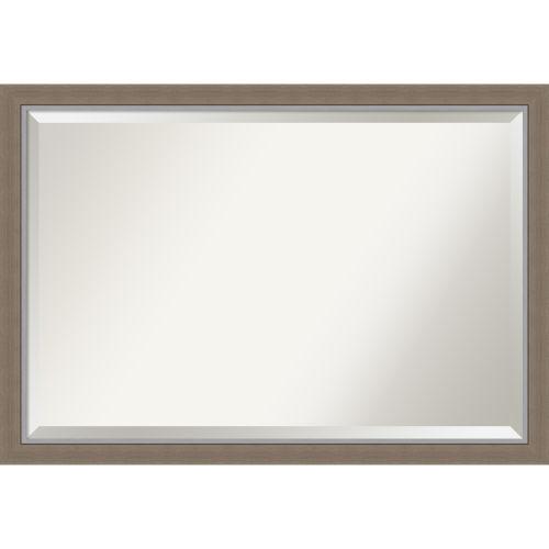Eva Brown 39W X 27H-Inch Bathroom Vanity Wall Mirror