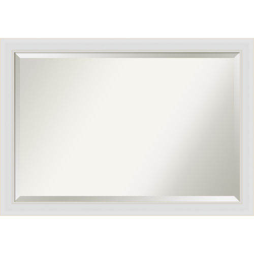 Flair White 40W X 28H-Inch Bathroom Vanity Wall Mirror