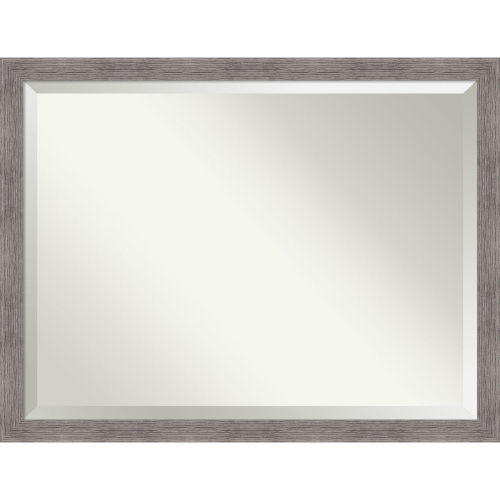 Pinstripe Gray 44W X 34H-Inch Bathroom Vanity Wall Mirror