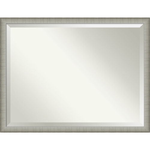 Elegant Pewter 43W X 33H-Inch Bathroom Vanity Wall Mirror