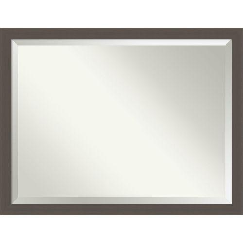 Pewter 44W X 34H-Inch Bathroom Vanity Wall Mirror