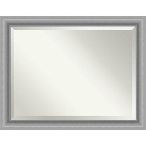 Peak Brushed Nickel Bathroom Vanity Wall Mirror