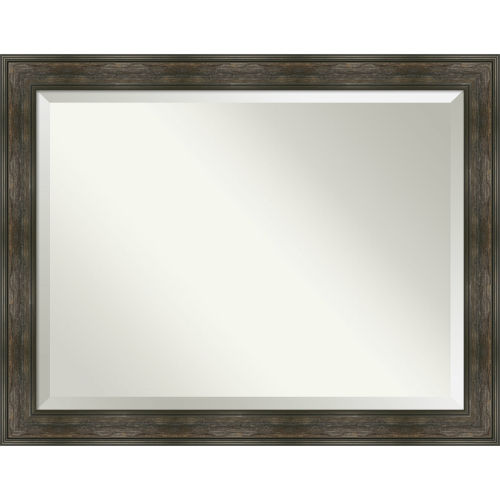 Rail Brown 46W X 36H-Inch Bathroom Vanity Wall Mirror