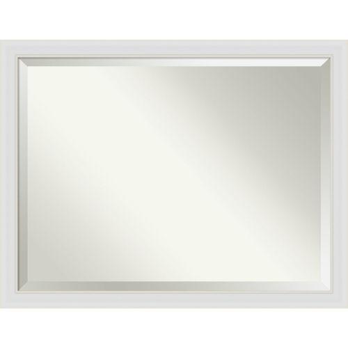 Flair White 44W X 34H-Inch Bathroom Vanity Wall Mirror