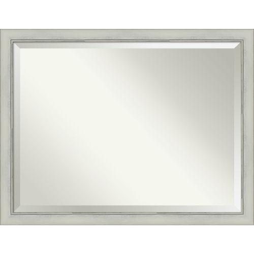 Flair Silver 44W X 34H-Inch Bathroom Vanity Wall Mirror