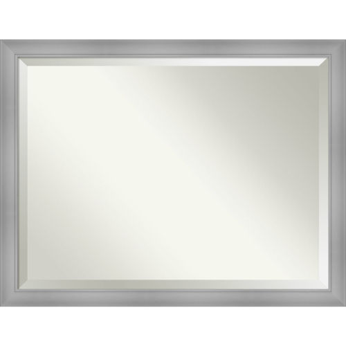 Flair Brushed Nickel 44W X 34H-Inch Bathroom Vanity Wall Mirror