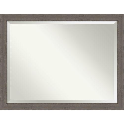 Alta Brown and Gray Bathroom Vanity Wall Mirror