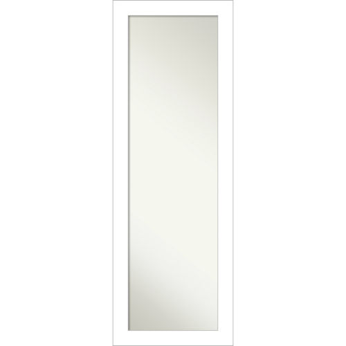 Wedge White 18W X 52H-Inch Full Length Mirror