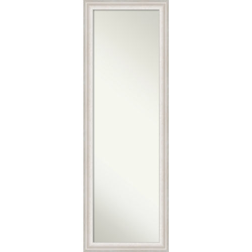 Trio White and Silver 18W X 52H-Inch Full Length Mirror