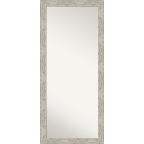 Crackled Silver 29W X 65H-Inch Full Length Floor Leaner Mirror