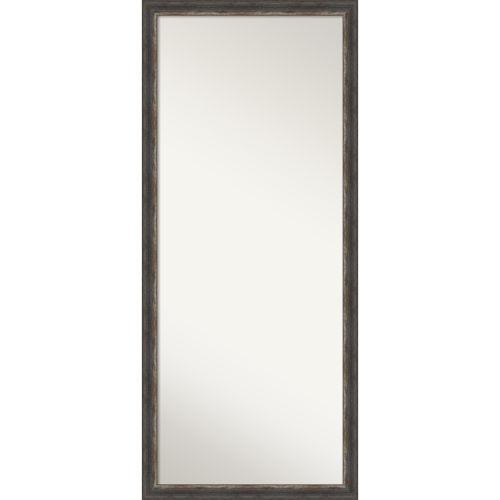 Bark Brown 28W X 64H-Inch Full Length Floor Leaner Mirror