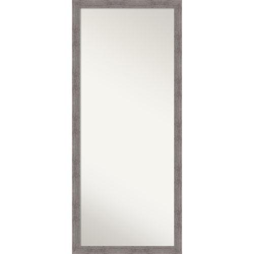 Pinstripe Gray Full Length Floor Leaner Mirror
