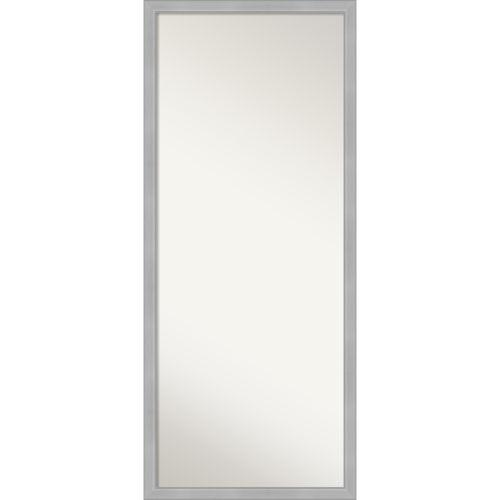 Vista Brushed Nickel Full Length Floor Leaner Mirror