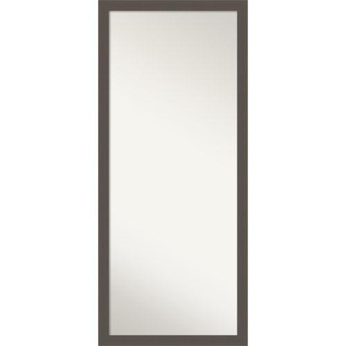 Pewter 28W X 64H-Inch Full Length Floor Leaner Mirror