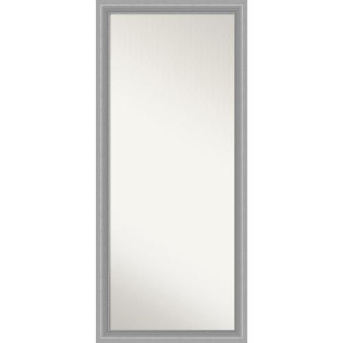 Peak Brushed Nickel 29W X 65H-Inch Full Length Floor Leaner Mirror
