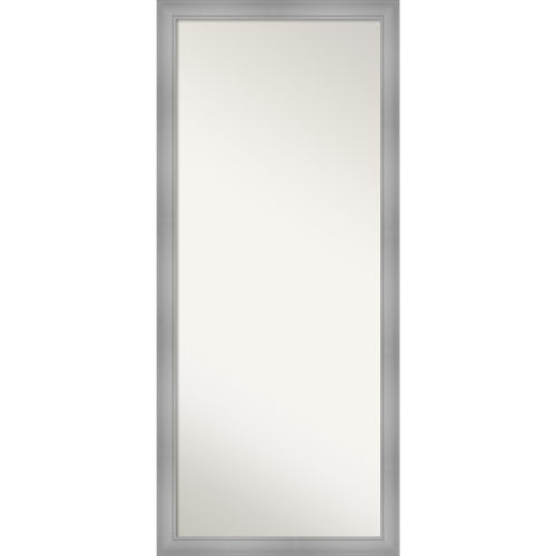 Flair Brushed Nickel 28W X 64H-Inch Full Length Floor Leaner Mirror
