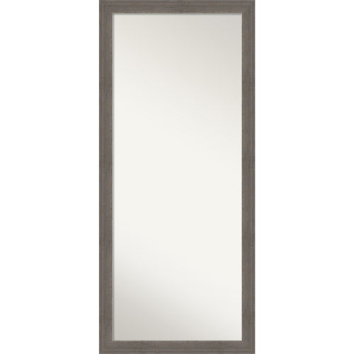 Alta Brown and Gray 29W X 65H-Inch Full Length Floor Leaner Mirror