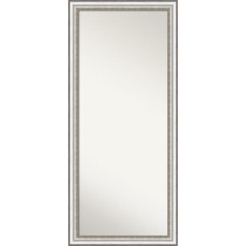 Salon Silver 29W X 65H-Inch Full Length Floor Leaner Mirror