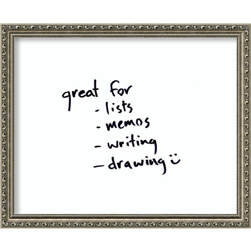 Amanti Art Parisian Silver Small Glass Dry Erase Board