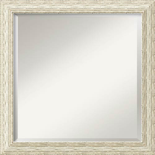 Amanti Art Cape Cod Distressed White Square Mirror