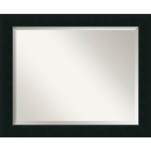 Corvino Black Large Rectangular Mirror