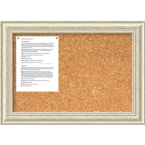 Amanti Art Country Whitewash Medium Cork Board