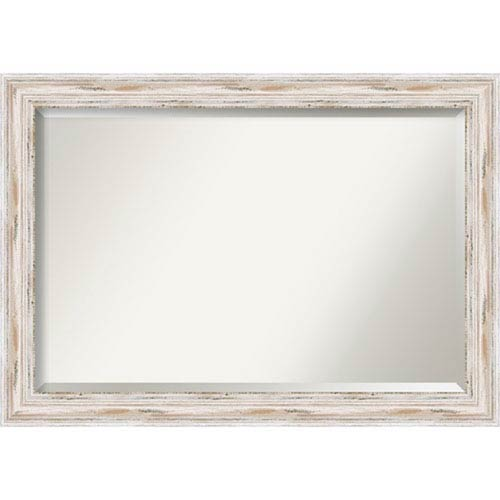 Alexandria Distressed Whitewash Extra Large Mirror