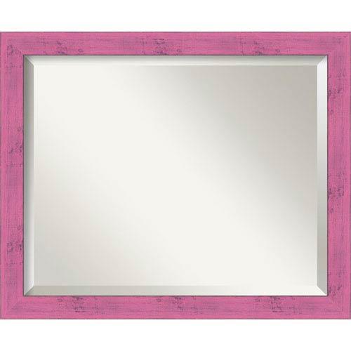 Petticoat Pink Medium Rustic Wall Mirror