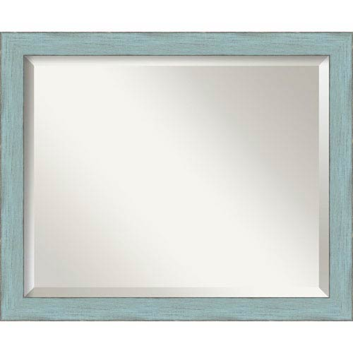 Sky Blue Medium Rustic Wall Mirror