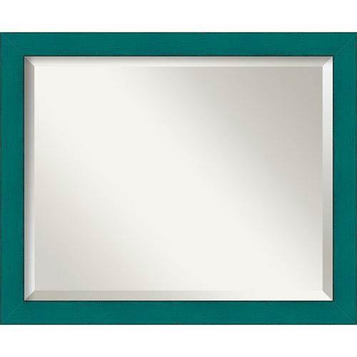 Amanti Art French Teal Medium Rustic Wall Mirror