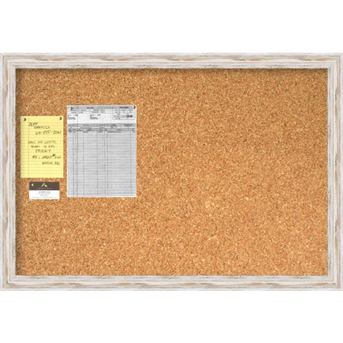 Alexandria Whitewash Large Cork Board