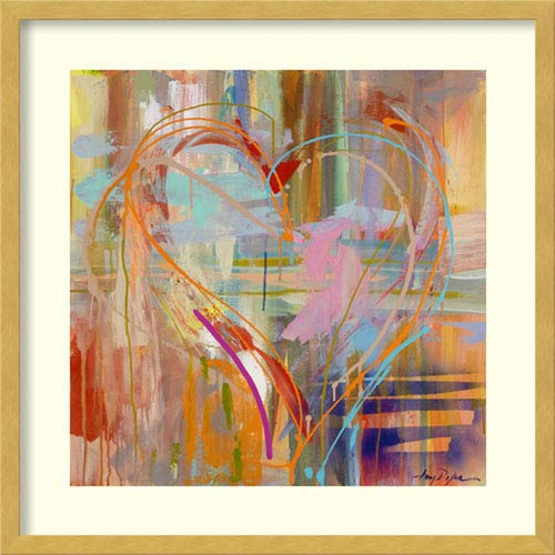 Abstract Heart by Amy Dixon: 21 x 21-Inch Framed Art