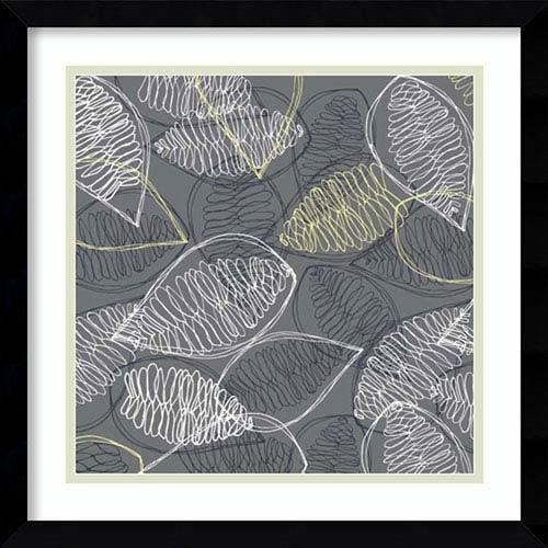 Winters Grey II: Leaves by Ali Benyon: 16 x 16-Inch Framed Art