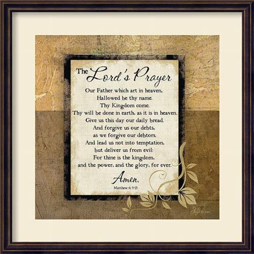 The Lords Prayer by Jennifer Pugh: 22 x 22-Inch Framed Art