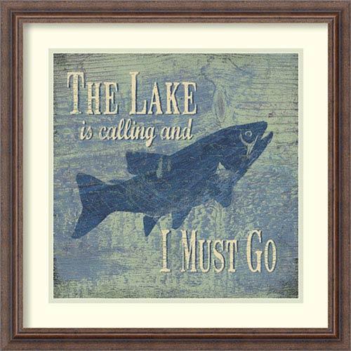 The Lake Fishing by Jo Moulton: 22 x 22-Inch Framed Art