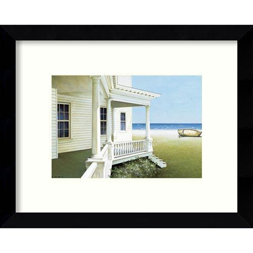 Deserted Coastal Cottage by Zhen-Huan Lu: 11 x 9-Inch Framed Art