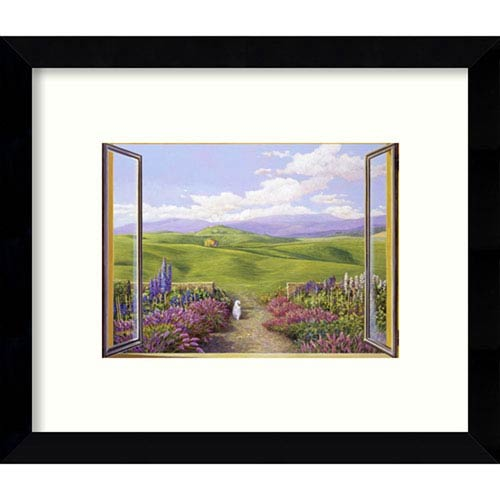 Paesaggio toscano by Andrea Del Missier: 11 x 9-Inch Framed Art