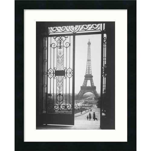 Amanti Art The Eiffel Tower From The Trocadero, 1925 by Sally Gall: 18 x 22 Print Reproduction