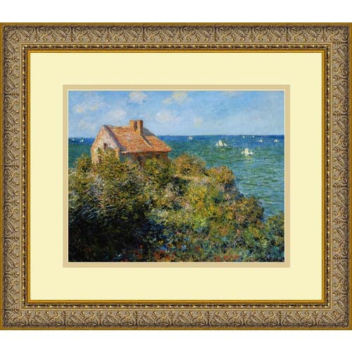 Amanti Art Fisherman Cottage on the Cliffs at Varengeville, 1882 by Claude Monet: 16 x 14 Print Reproduction