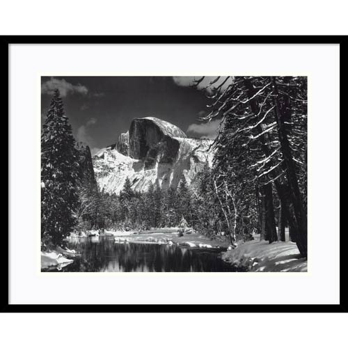 Half Dome, Winter - Yosemite National Park, 1938 by Ansel Adams: 28 x 24 Print Reproduction
