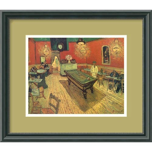 Amanti Art The Night Cafe, 1888 by Vincent Van Gogh: 15 x 13 Framed Print Reproduction