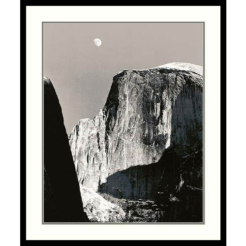 Moon Over Half Dome by Ansel Adams: 27 x 31 Print Reproduction