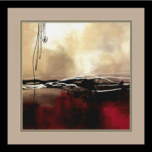 Amanti Art Symphony in Red and Khaki I by Laurie Maitland: 15 x 15 Print Reproduction