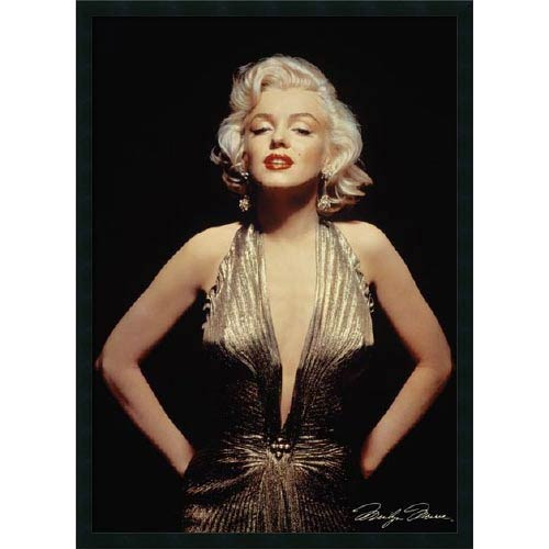 Amanti Art Marilyn Monroe (Gold): 26 x 38 Print Reproduction