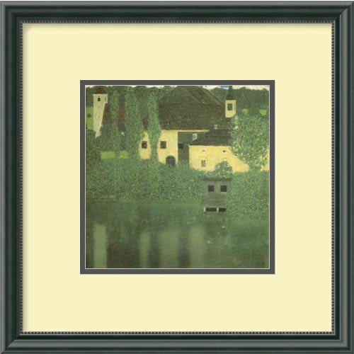 Schloss Unterach on the Attersee by Gustav Klimt: 15 x 15 Print Reproduction